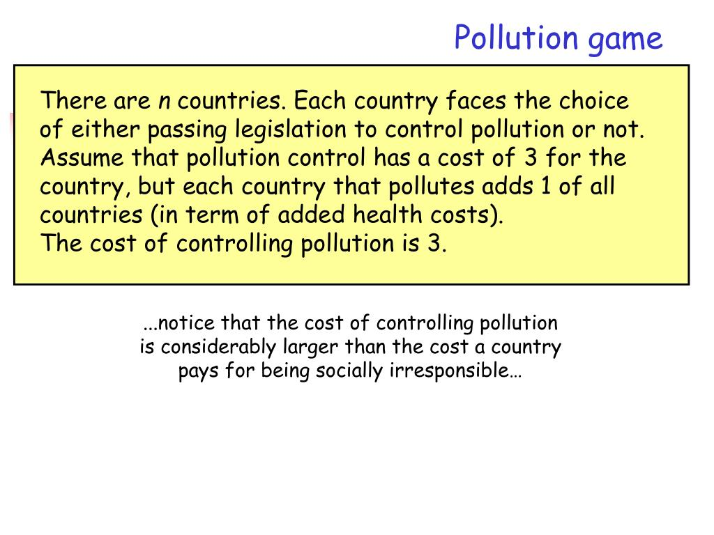 Pollution game