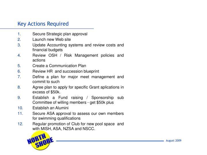 Secure Strategic plan approval