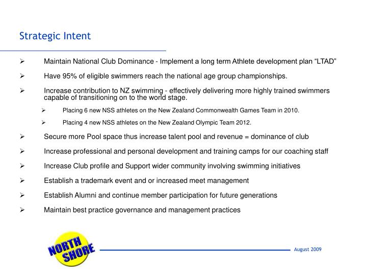 "Maintain National Club Dominance - Implement a long term Athlete development plan ""LTAD"""