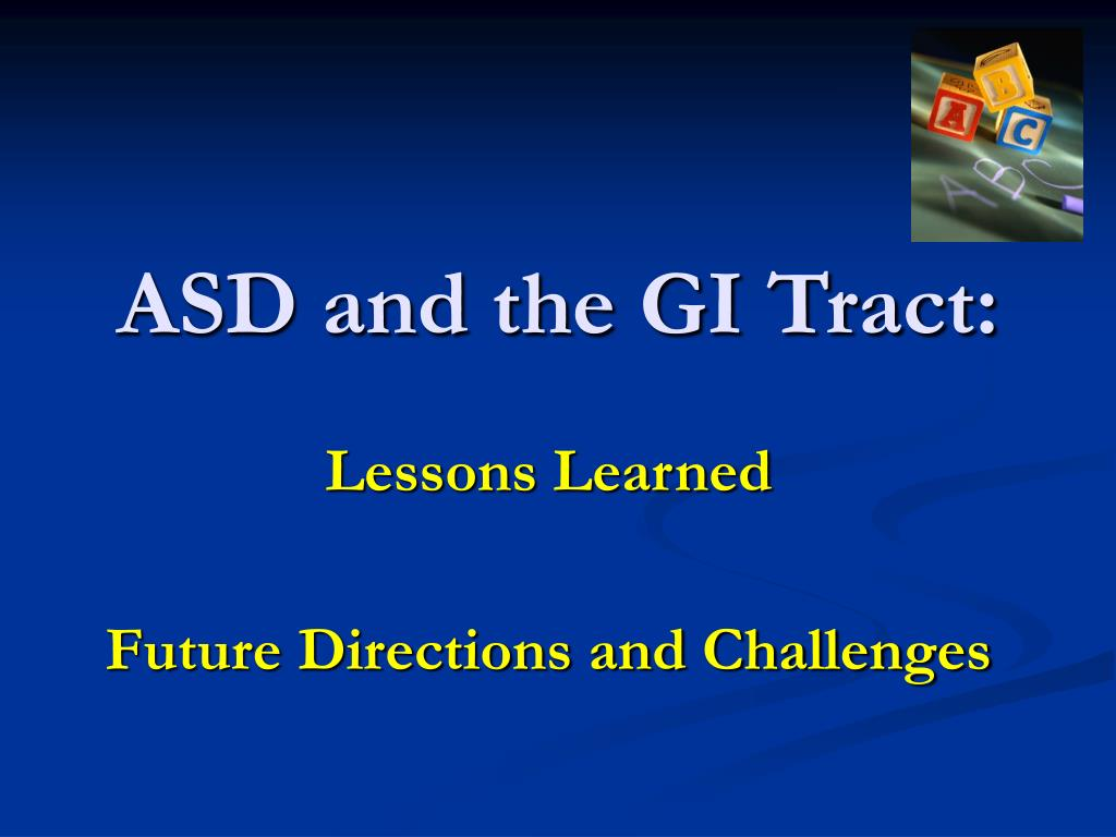 ASD and the GI Tract: