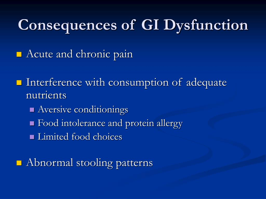 Consequences of GI Dysfunction