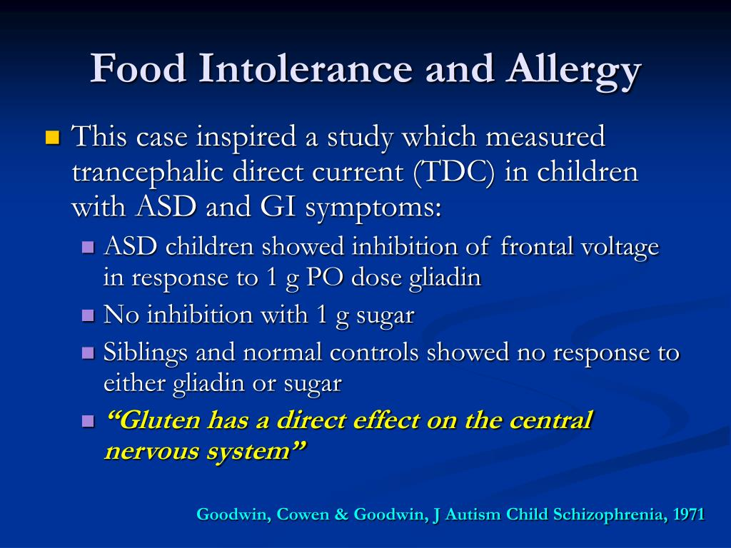 Food Intolerance and Allergy