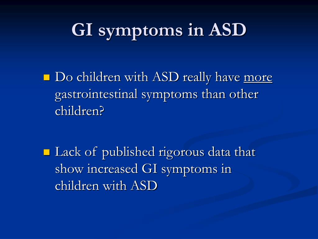 GI symptoms in ASD