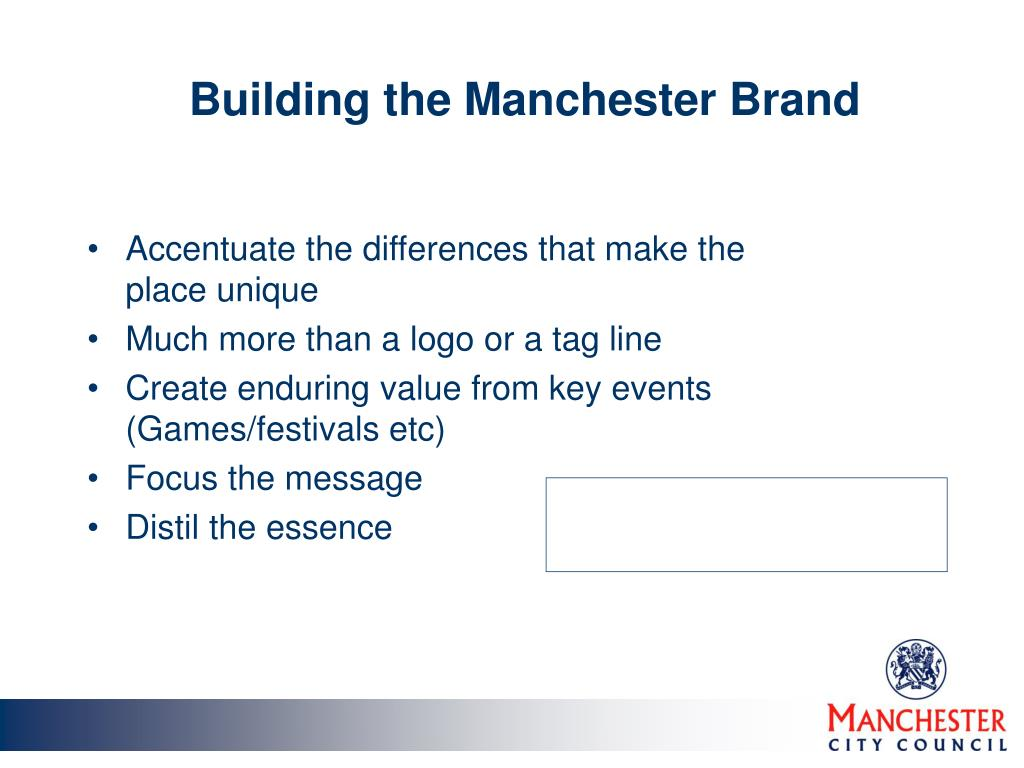 Building the Manchester Brand