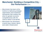 manchester building a competitive city our performance cont