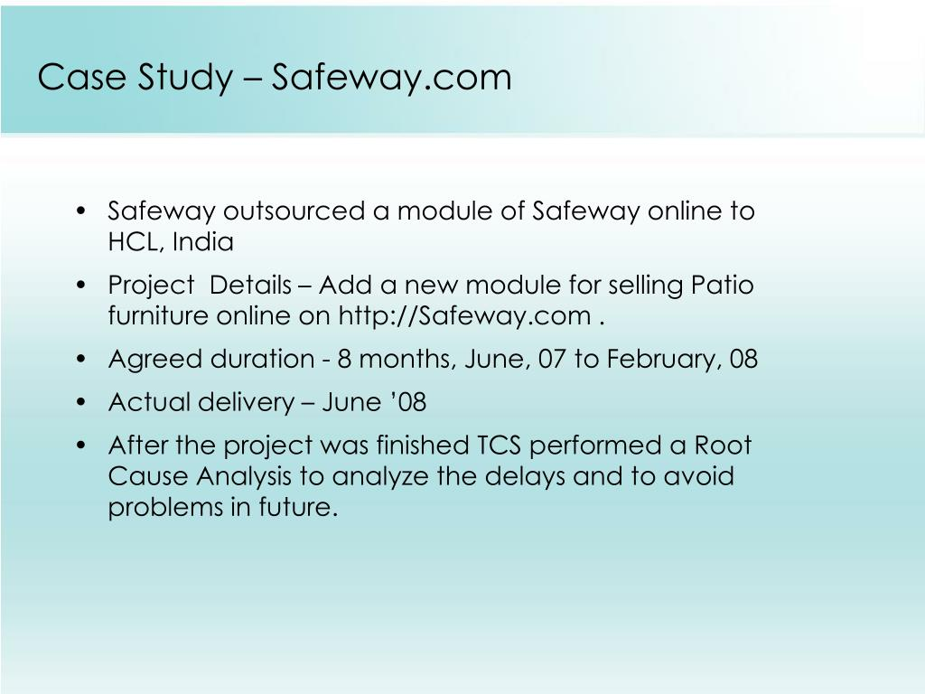 case study safeway Lifetime value management model is a powerful tool to help businesses demonstrate the future value they can generate from safeway: case study in measuring the effect of new crm strategies and tactics to see how lifetime value is used.
