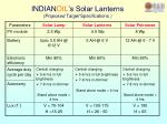 indian oil s solar lanterns proposed target specifications