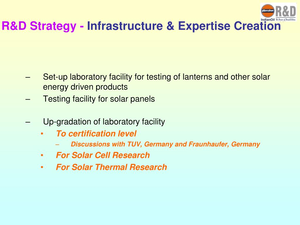 R&D Strategy -