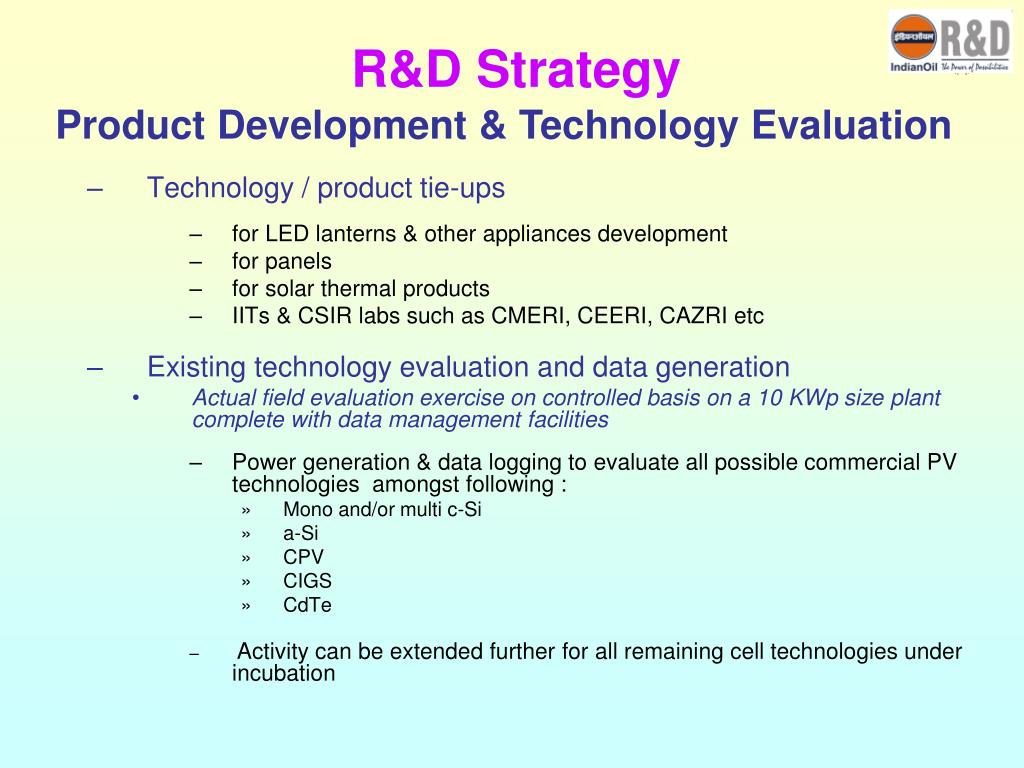 R&D Strategy