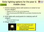 solar lighting options for the poor middle class