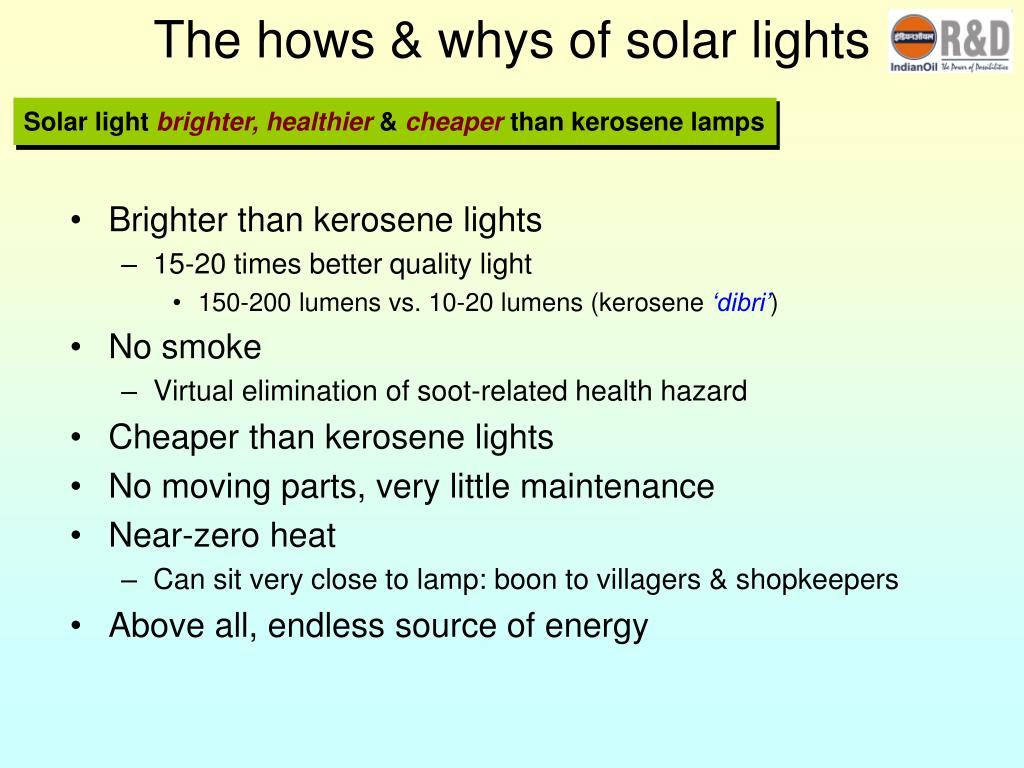 The hows & whys of solar lights