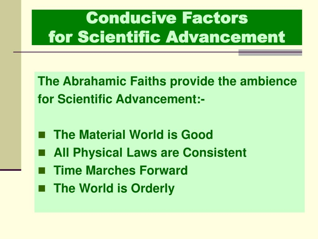 Conducive Factors