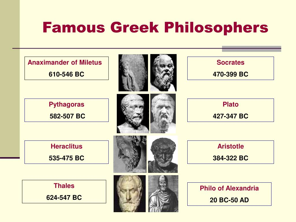 Famous Greek Philosophers