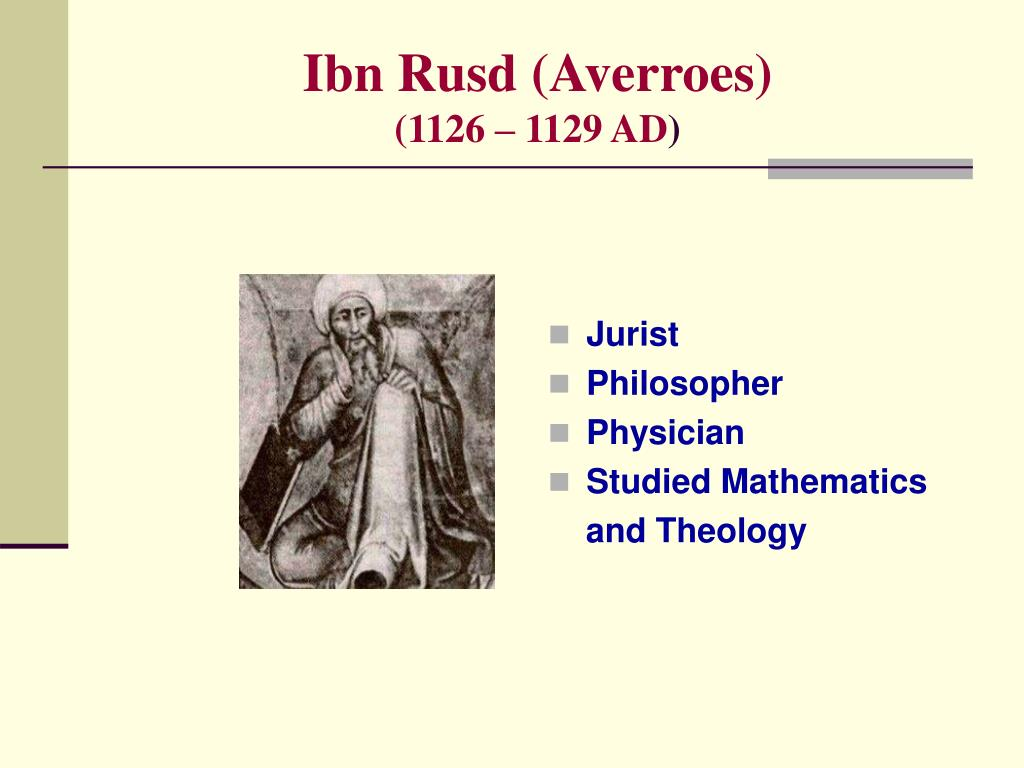 Ibn Rusd (Averroes)