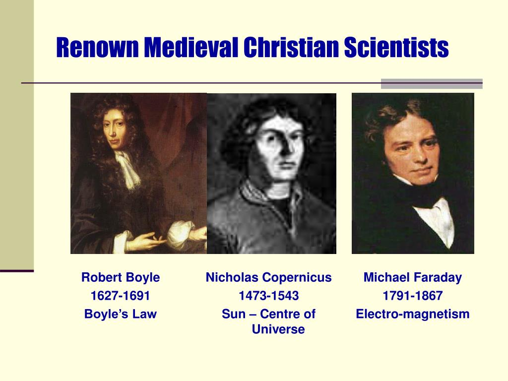 Renown Medieval Christian Scientists