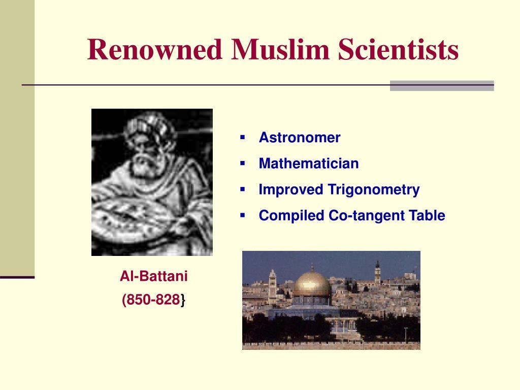 Renowned Muslim Scientists