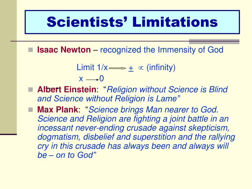 Scientists' Limitations