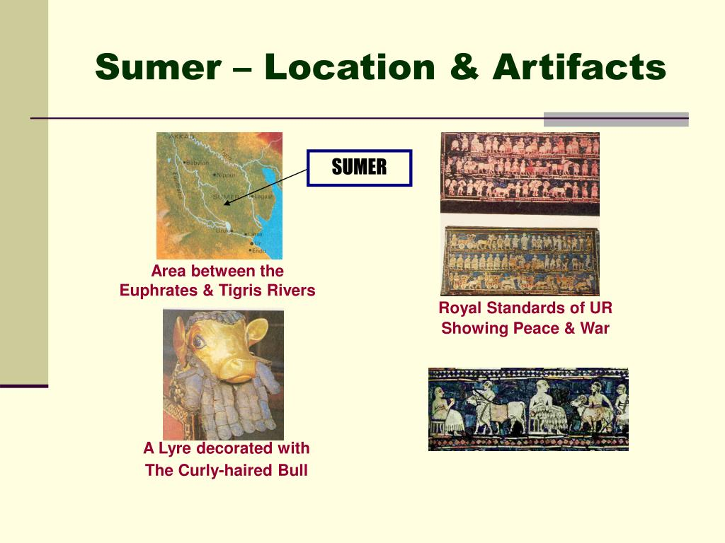 Sumer – Location & Artifacts