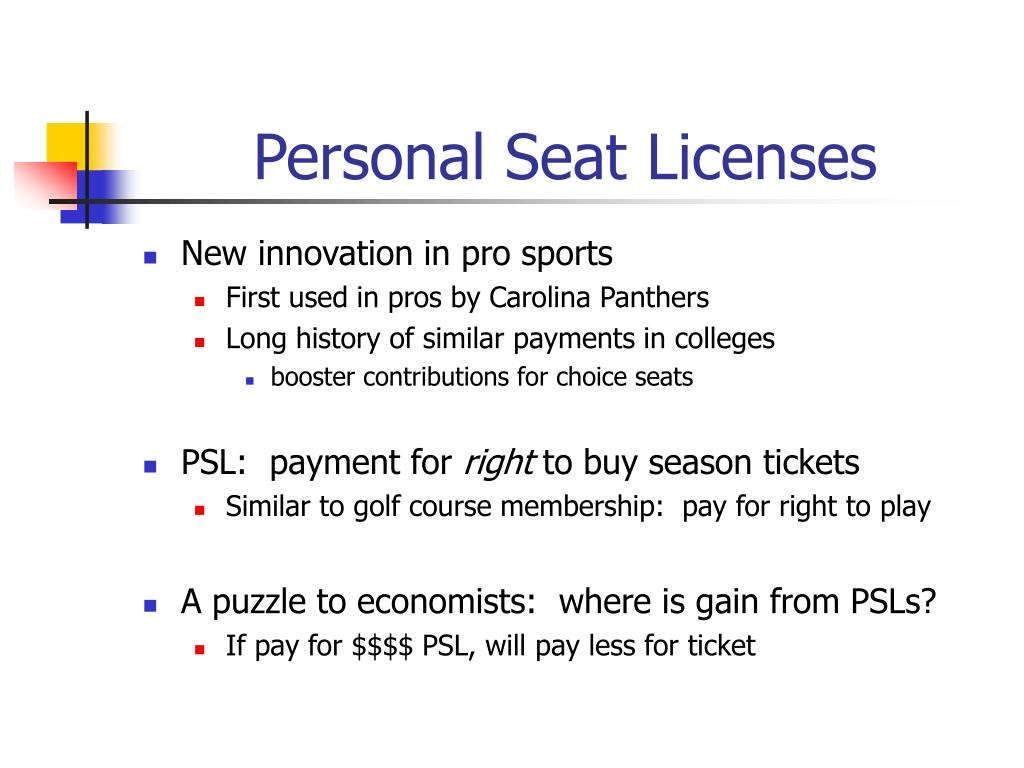 Personal Seat Licenses
