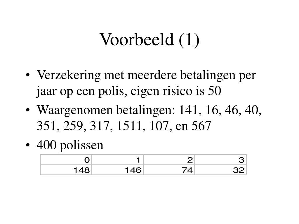Voorbeeld (1)