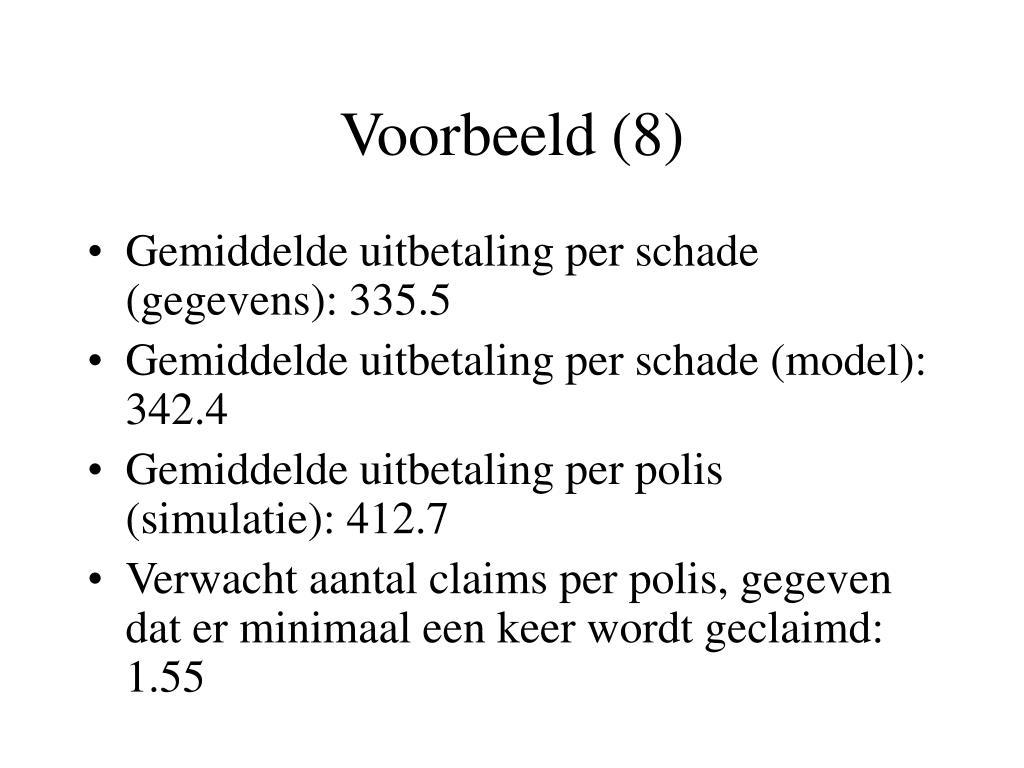 Voorbeeld (8)
