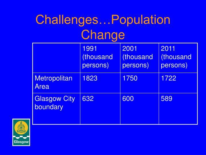Challenges…Population Change