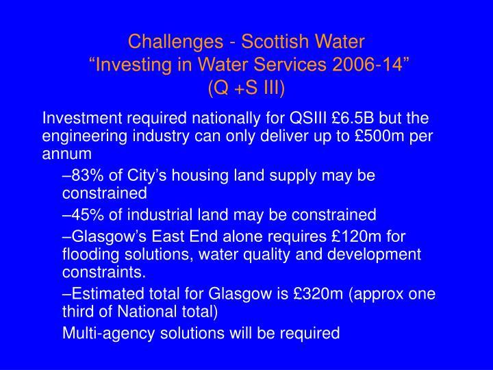 Challenges - Scottish Water