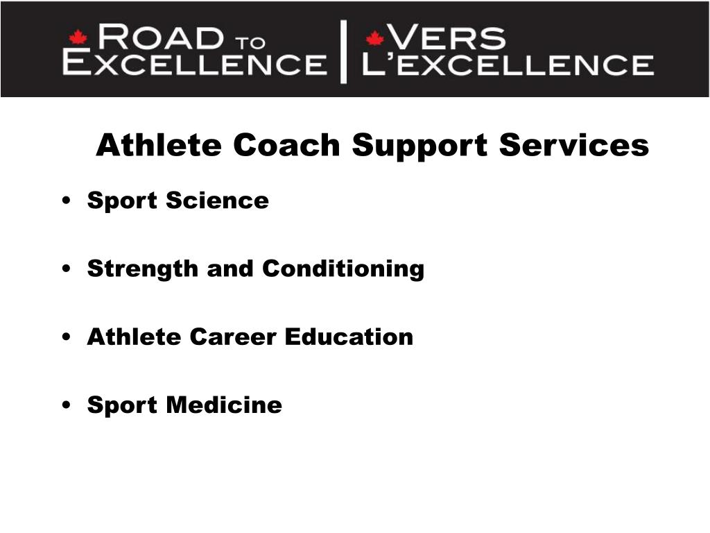 Athlete Coach Support Services
