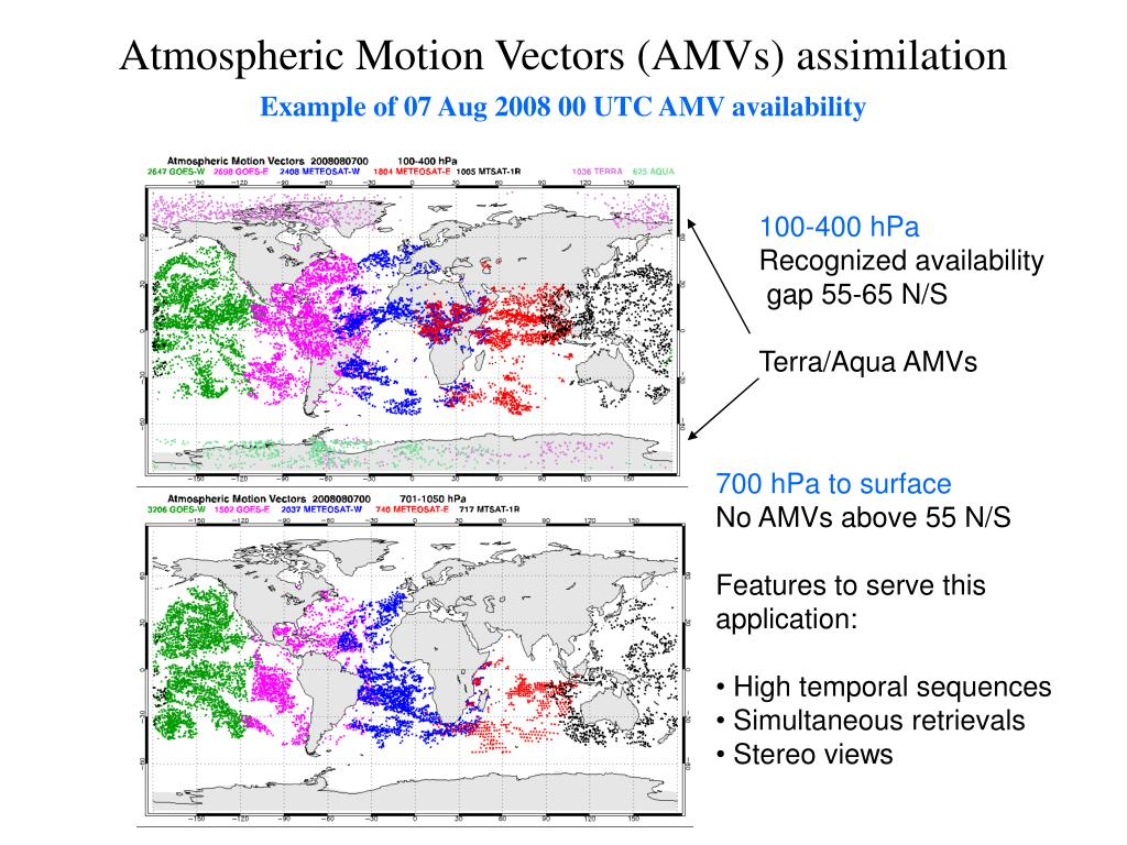 Atmospheric Motion Vectors (AMVs) assimilation