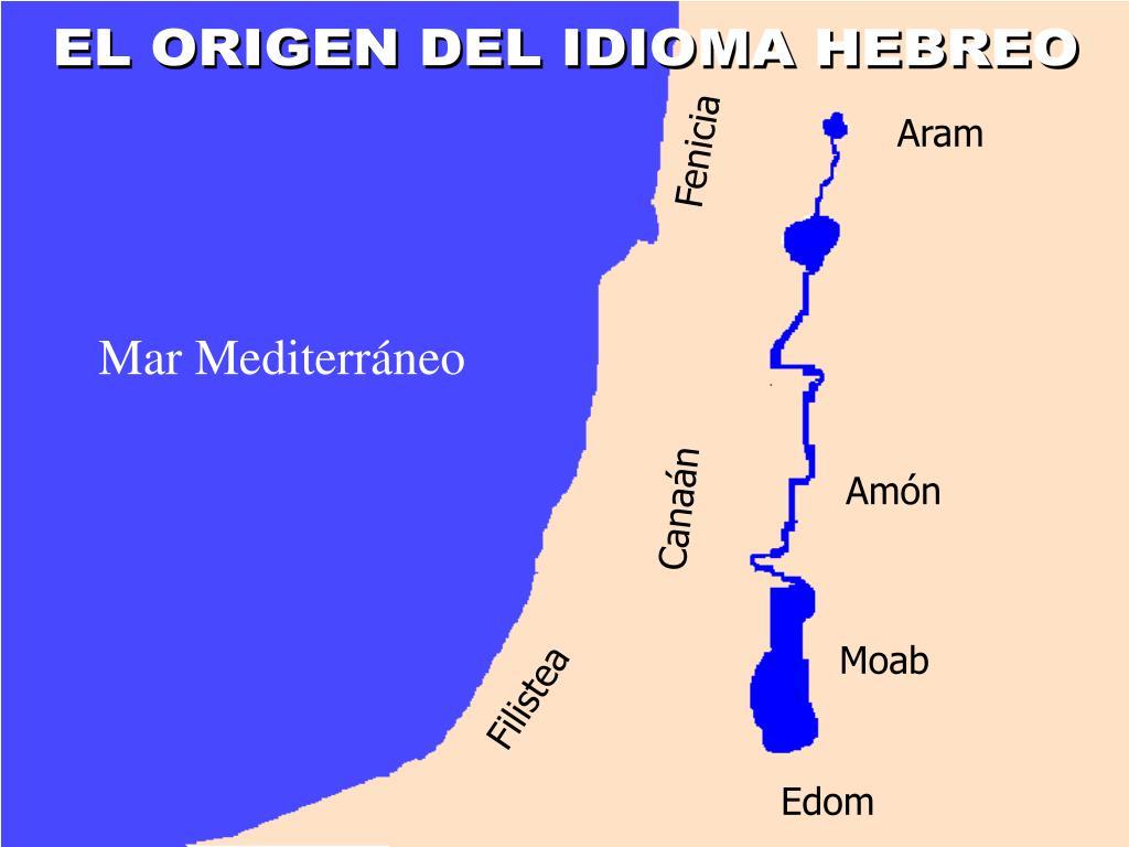 EL ORIGEN DEL IDIOMA HEBREO