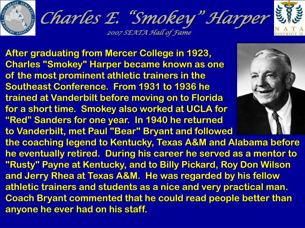 "Charles E. ""Smokey"" Harper"