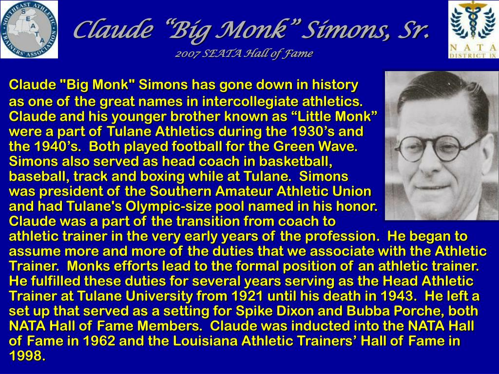 "Claude ""Big Monk"" Simons, Sr."