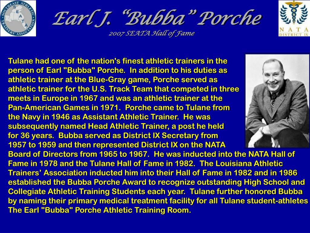 """Earl J. """"Bubba"""" Porche"""