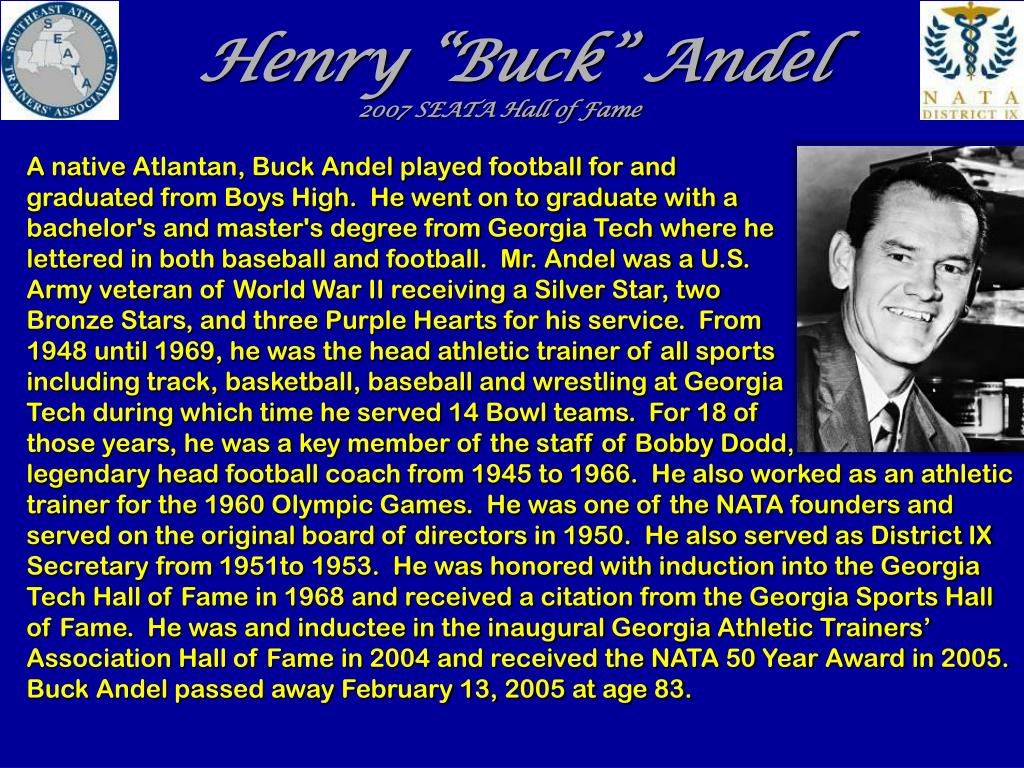 A native Atlantan, Buck Andel played football for and