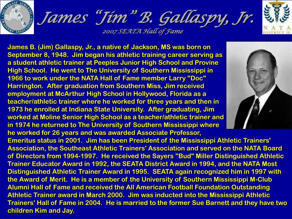 "James ""Jim"" B. Gallaspy, Jr."