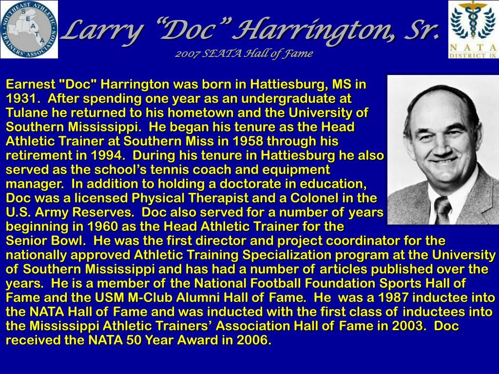 "Larry ""Doc"" Harrington, Sr."