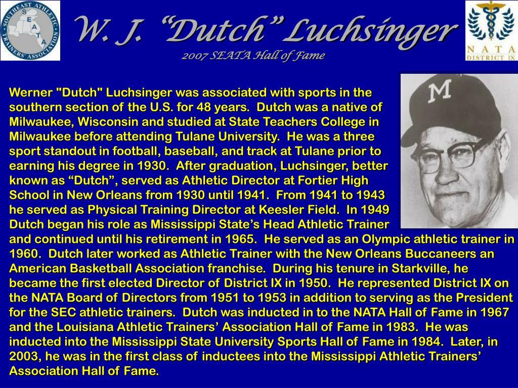 "W. J. ""Dutch"" Luchsinger"