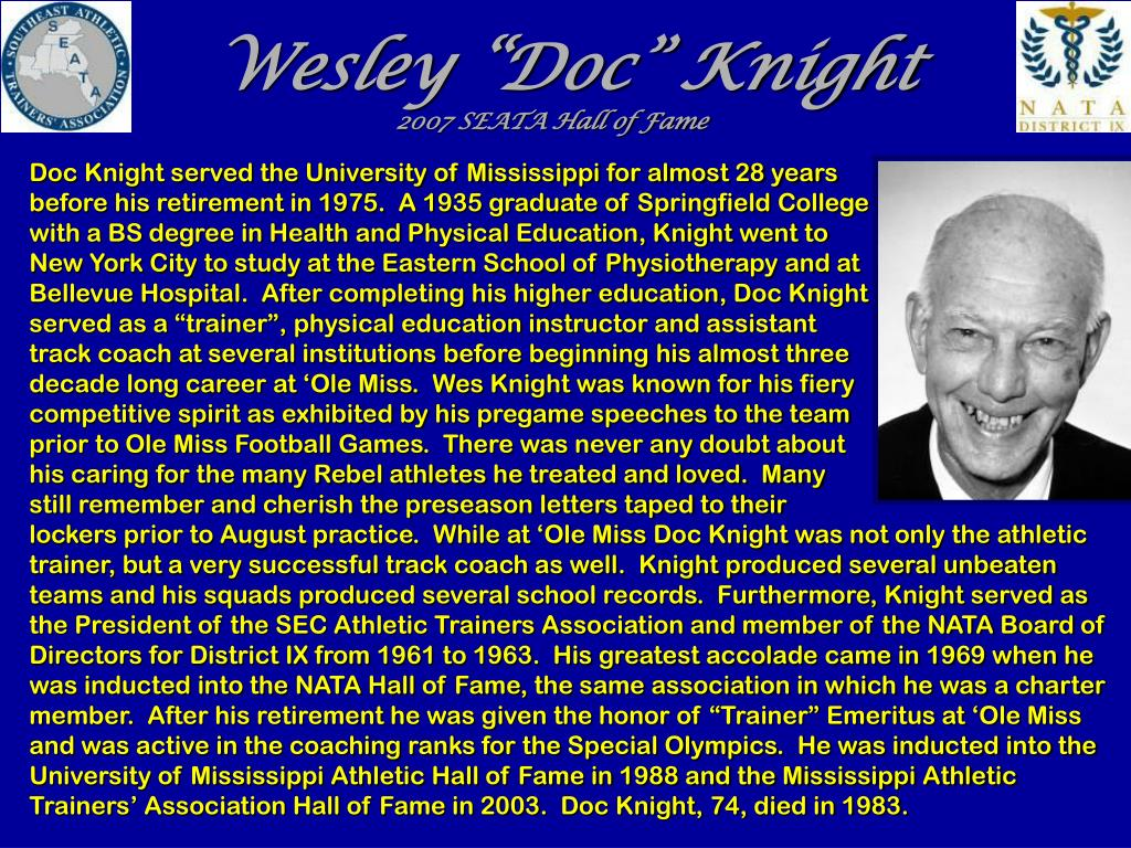 "Wesley ""Doc"" Knight"