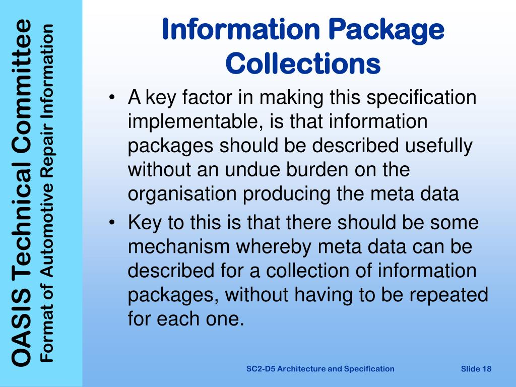 Information Package Collections