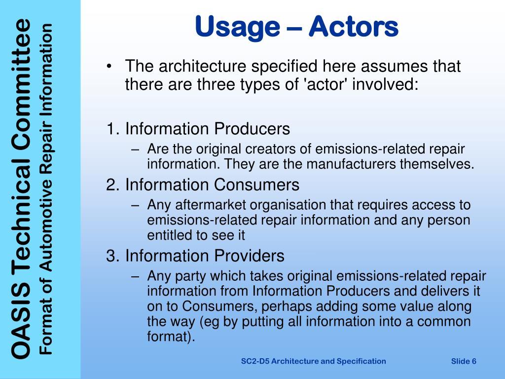 Usage – Actors