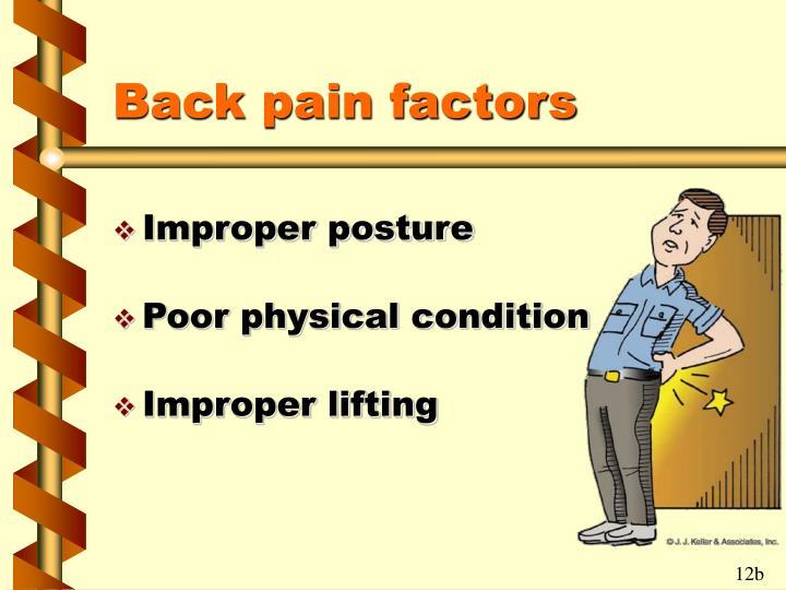 Back pain factors