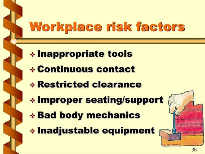 Workplace risk factors