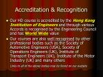 accreditation recognition