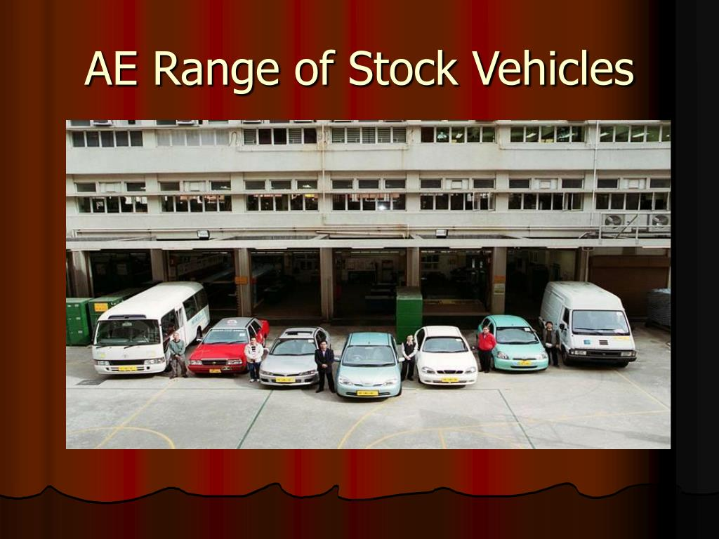 AE Range of Stock Vehicles