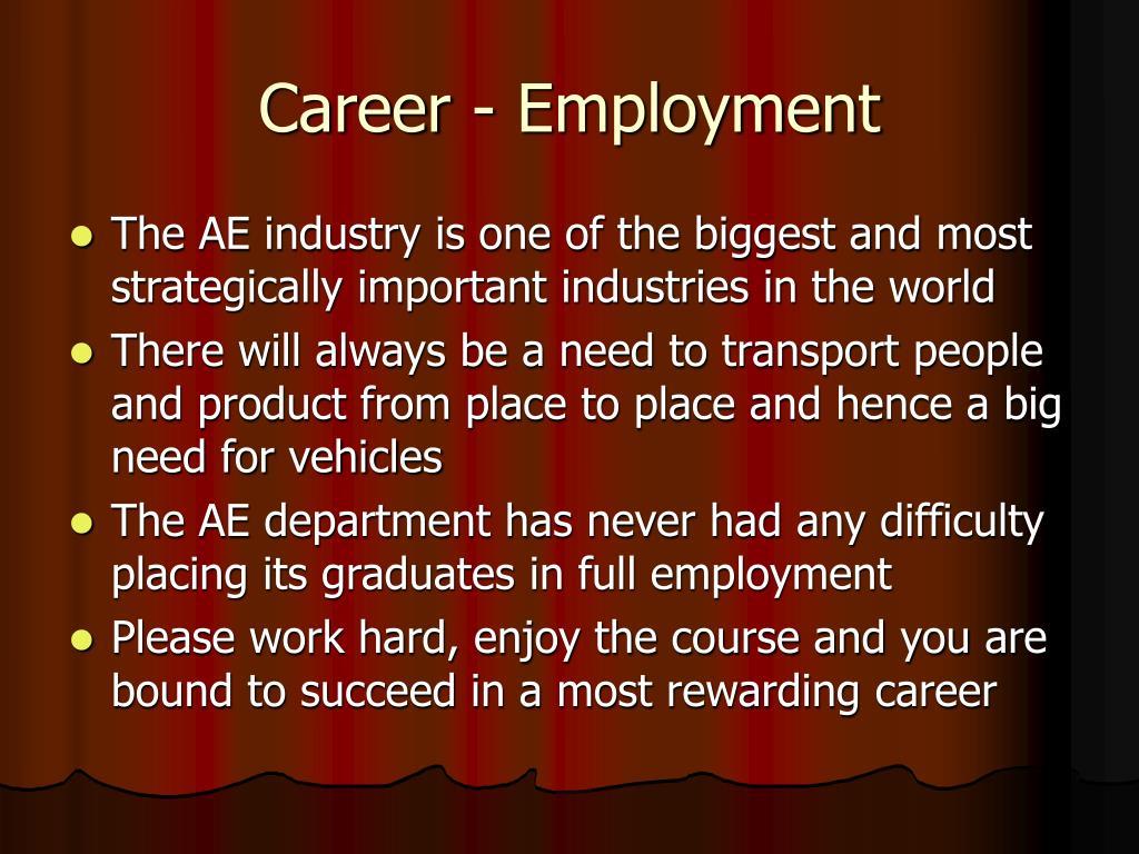 Career - Employment