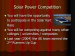 solar power competition