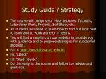 study guide strategy