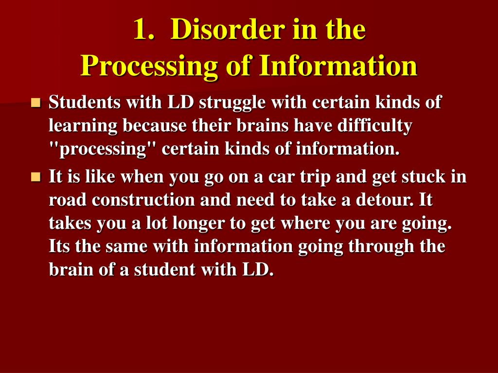 1.  Disorder in the