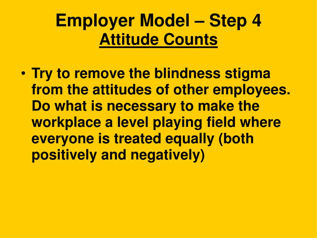 Employer Model – Step 4