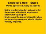 employer s role step 5 words speak as loudly as actions